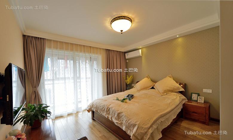 美式简约卧室设计装饰效果图欣赏