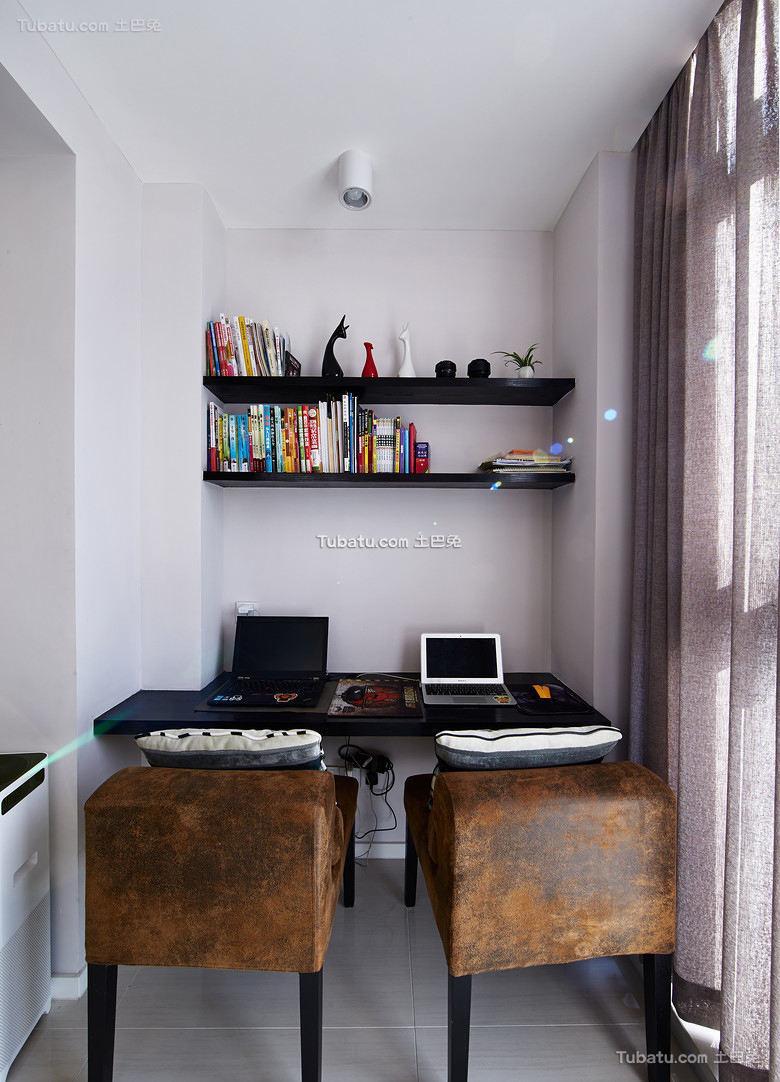 现代简约小书房装饰效果图