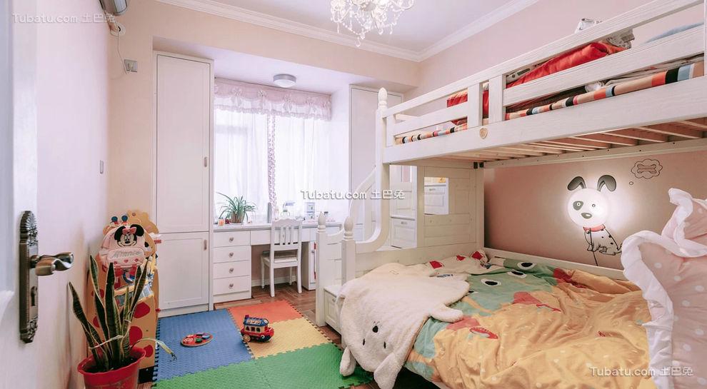 现代温馨儿童房布置