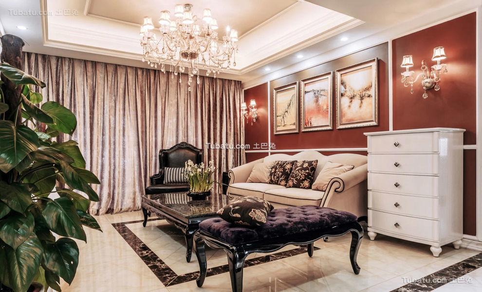 豪华新古典客厅装潢设计