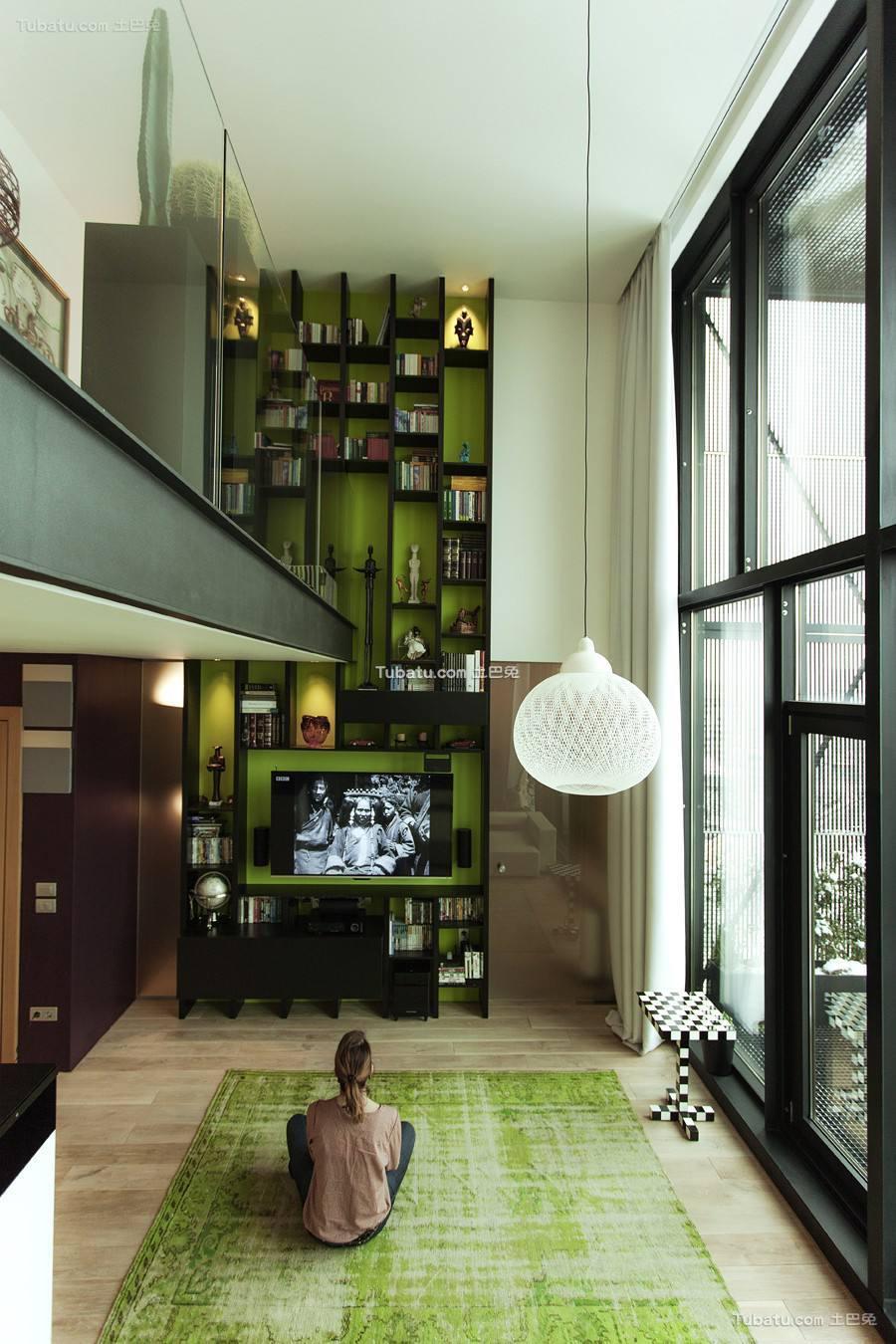 波西米亚风格loft客厅设计