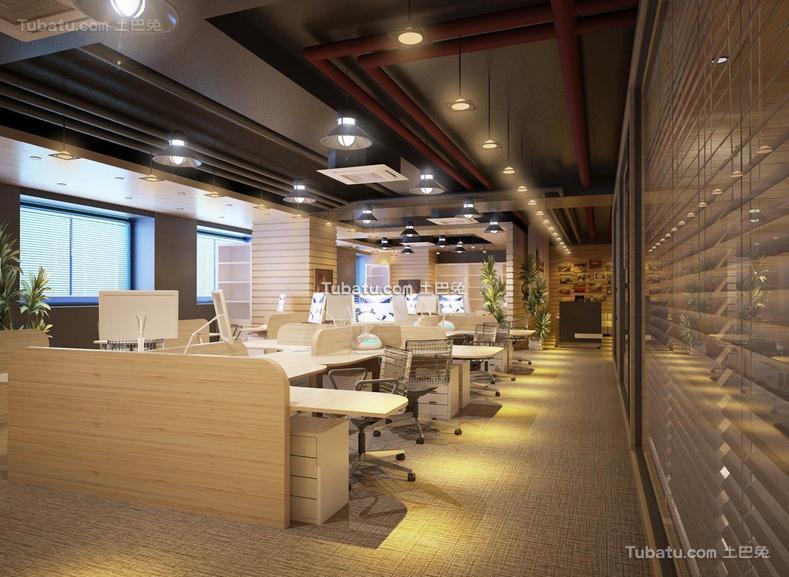写字楼办公室装饰室内效果图