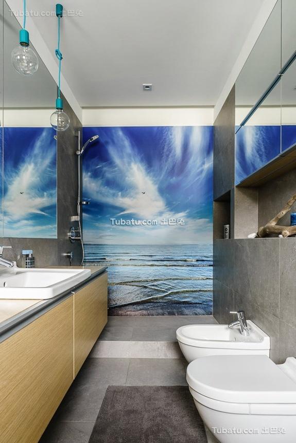 家居设计卫生间洗脸盆
