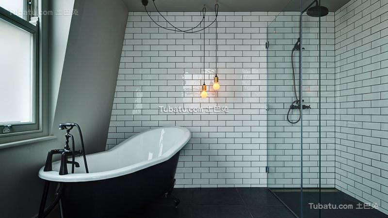 混搭装饰卫生间浴池