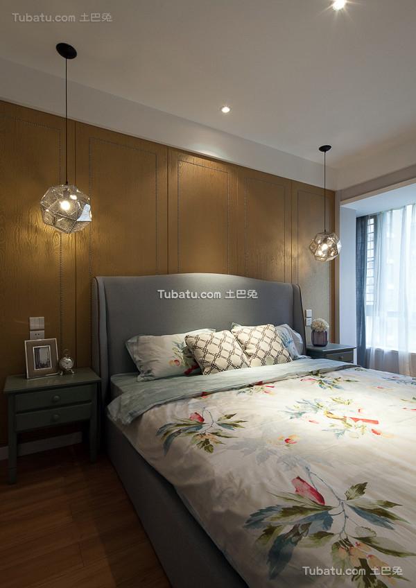 美式简约卧室装饰效果图片欣赏