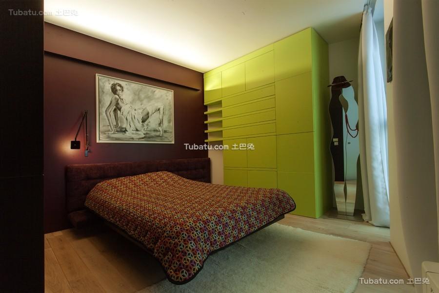 波西米亚风格loft卧室设计