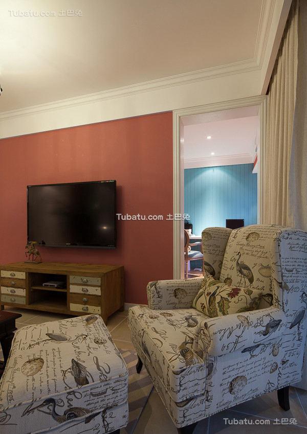 美式简约背景墙装饰效果图片