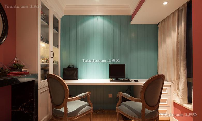 美式简约家居书房装饰效果图片