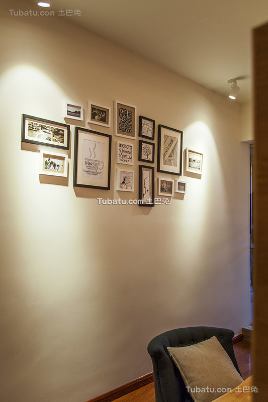 美式相片墙室内装饰设计效果图片