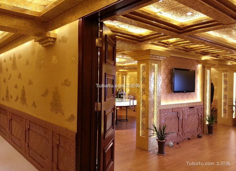 美式会所设计装饰室内效果图