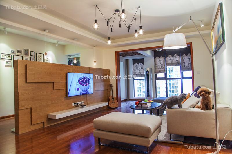 现代简约大公寓装饰设计效果图片