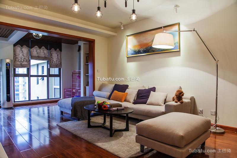 现代简约客厅室内装饰设计效果图片