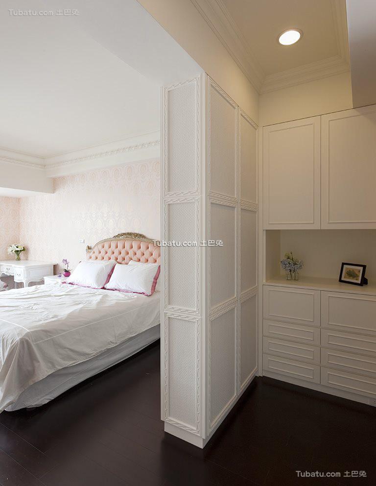 简欧设计卧室隔断