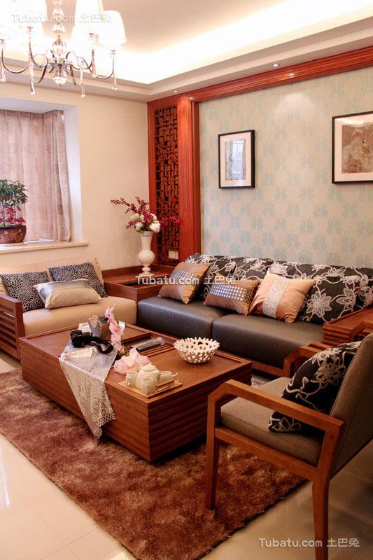精致新中式三居装潢案例