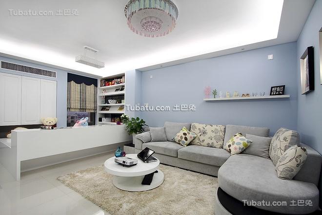80平简约两居室装饰效果图片