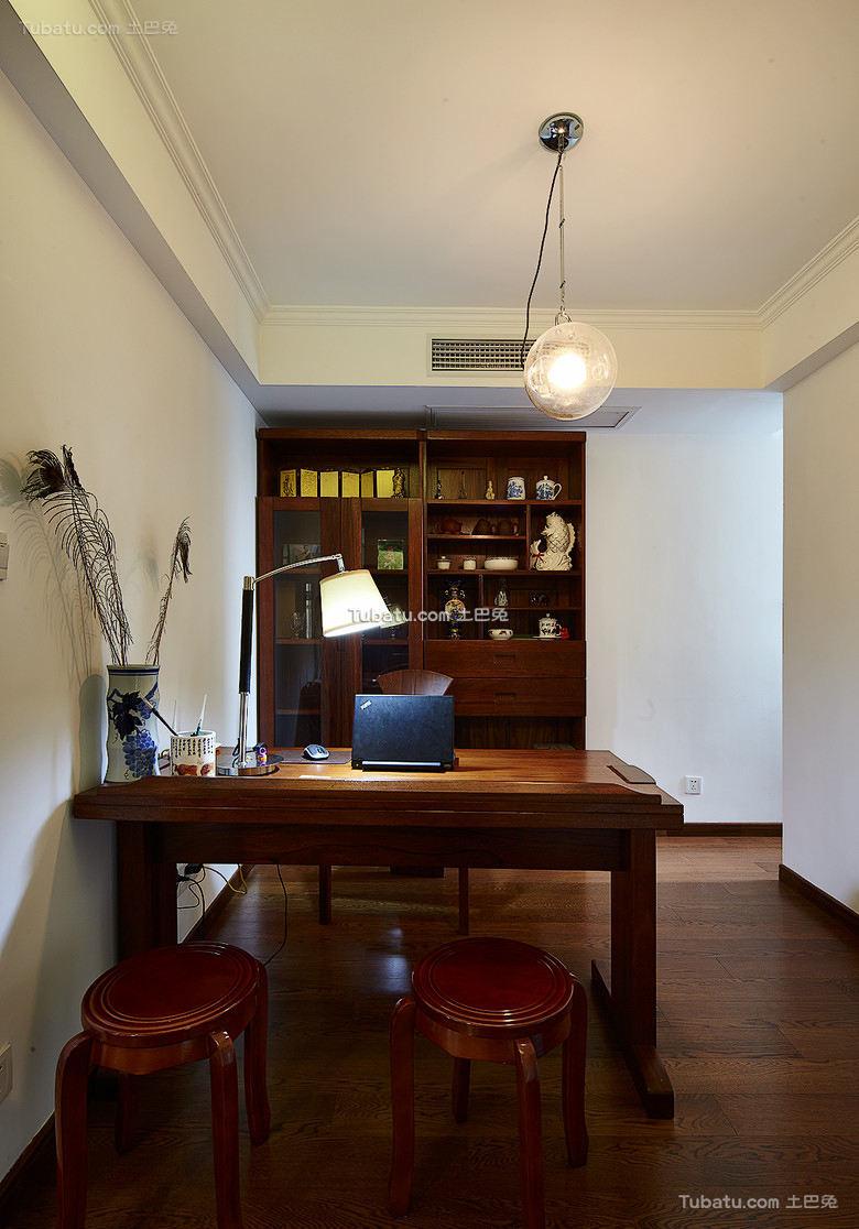 美式家居书房装饰设计效果图片
