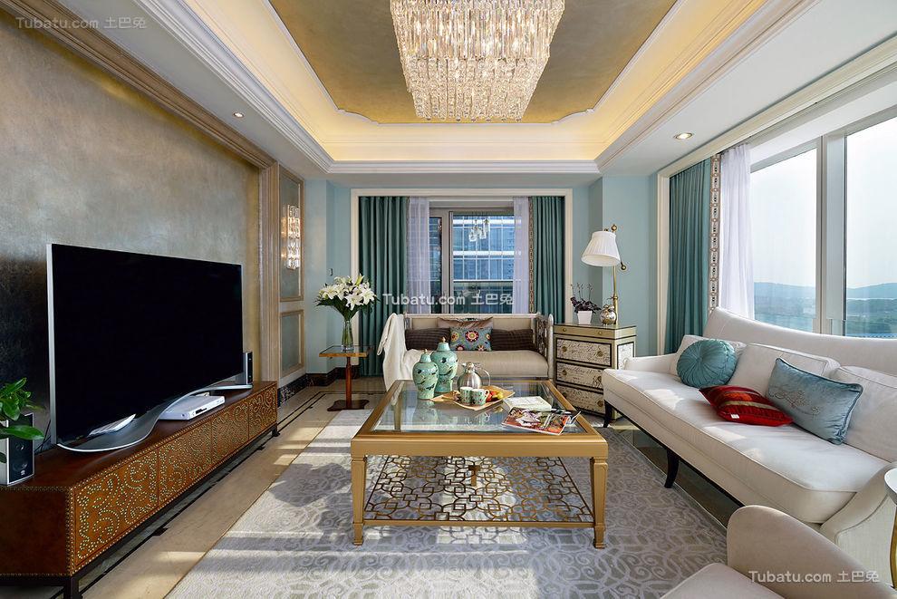 豪华精致混搭客厅布置案例