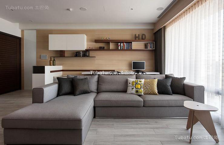 现代设计客厅效果图2015大全