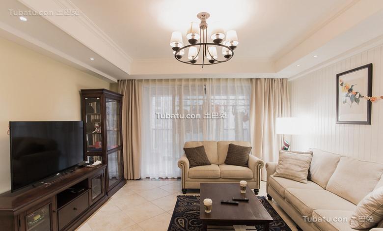 115平美式简约三居装修设计效果图