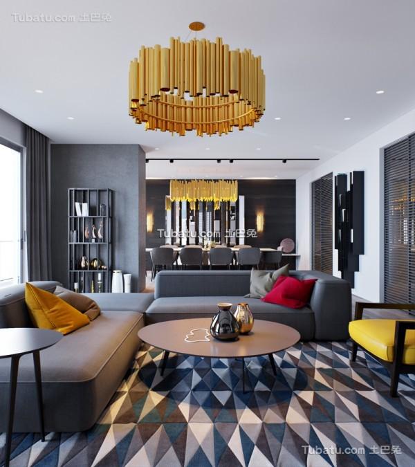 黑色主题风格客厅设计