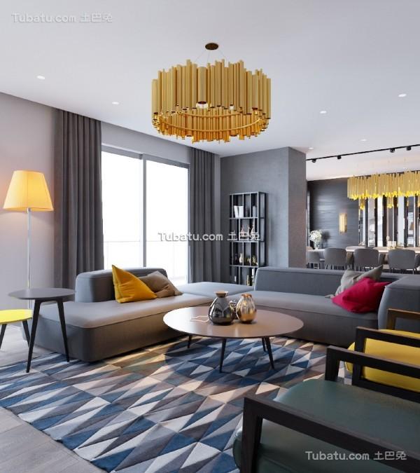 现代黑色主题风格公寓设计