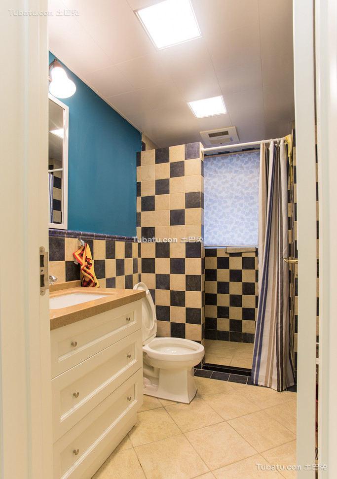美式简约家居卫生间设计效果图