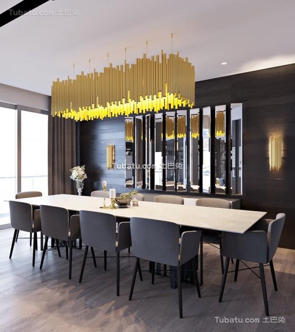 黑色主题风格餐厅设计