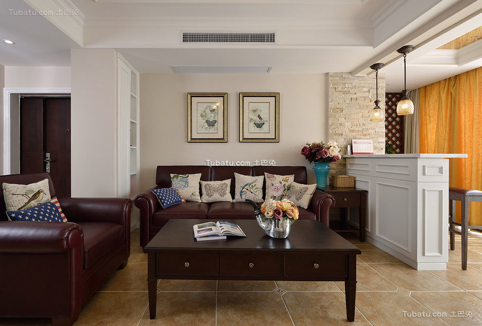 休闲美式客厅设计装潢