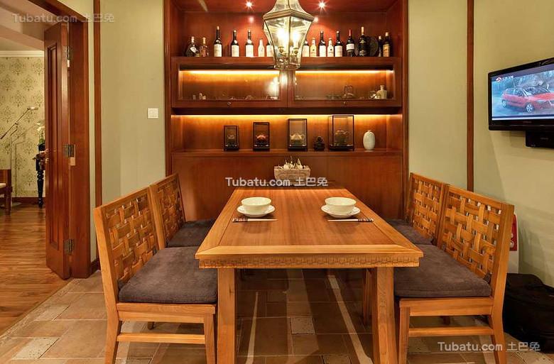 东南亚风格餐厅设计效果图片欣赏