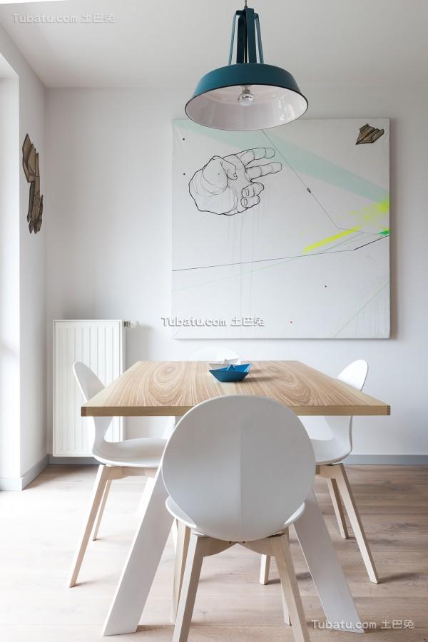 清新艺术感公寓餐厅设计