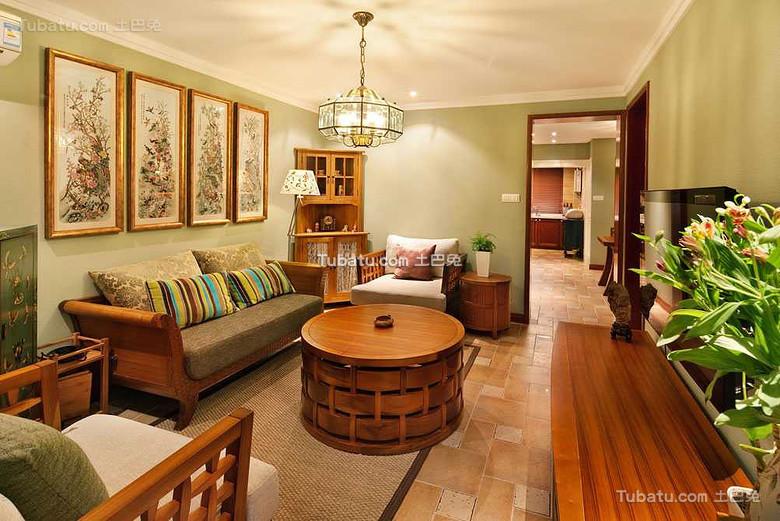 东南亚风格三居家装设计效果图