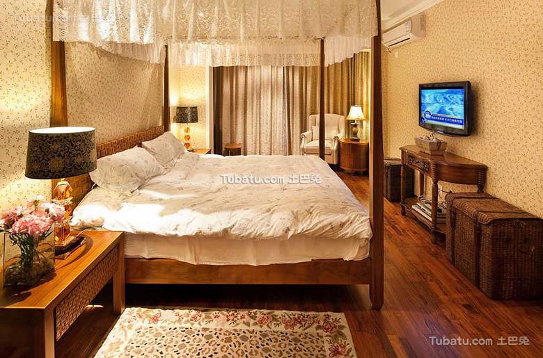 东南亚风格卧室家装设计效果图