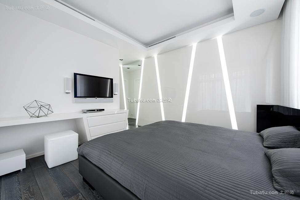 未来感的黑白卧室设计