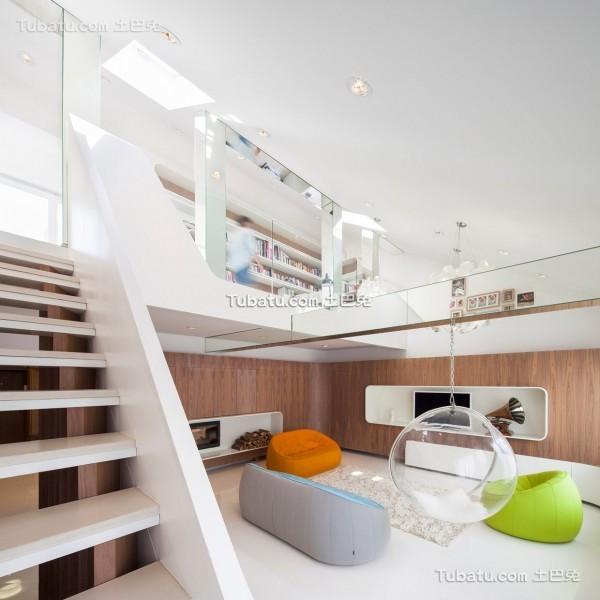现代简约唯美的loft设计