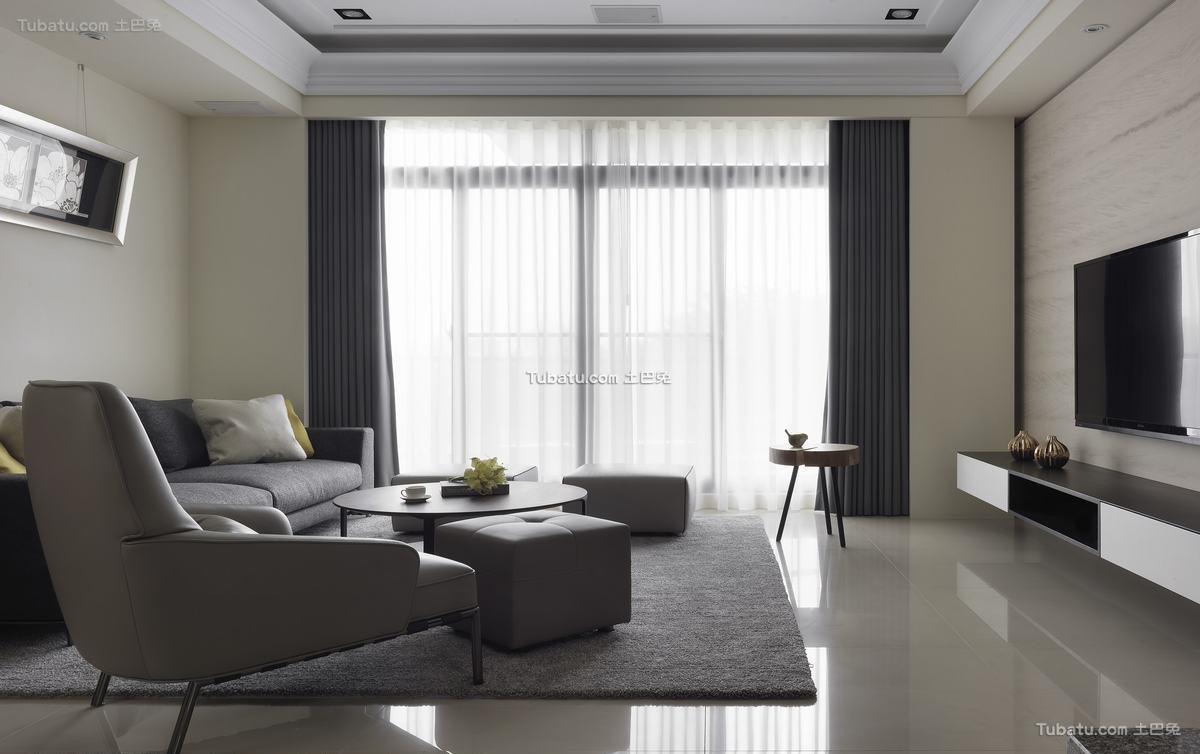 现代简约公寓设计家装效果图片