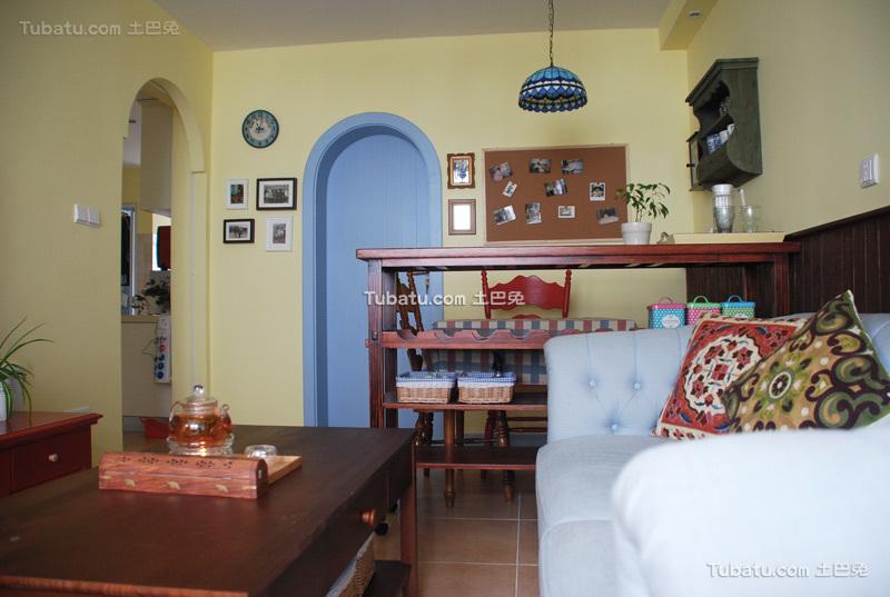 65平地中海小户型家居装修案例