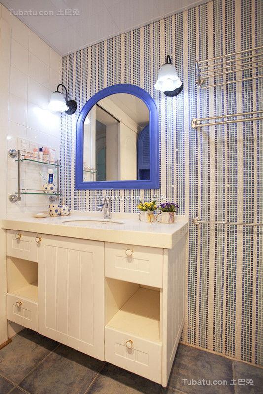 地中海风格洗手间设计装修效果图片