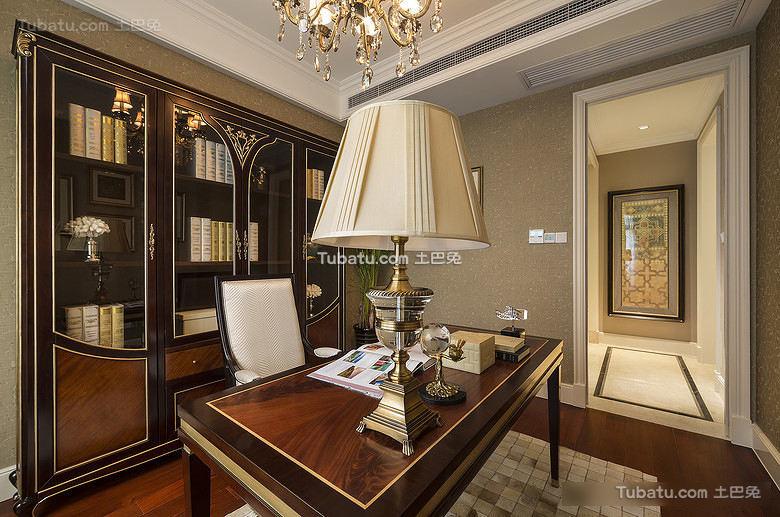 高端豪华欧式书房设计