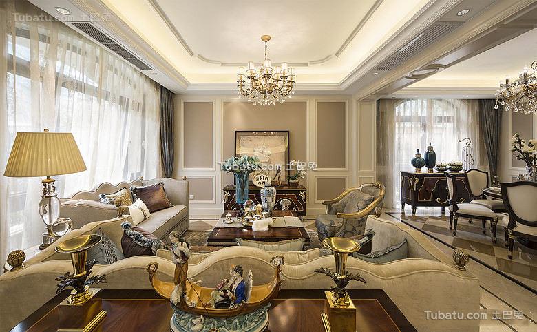 精致高端欧式家居客厅设计