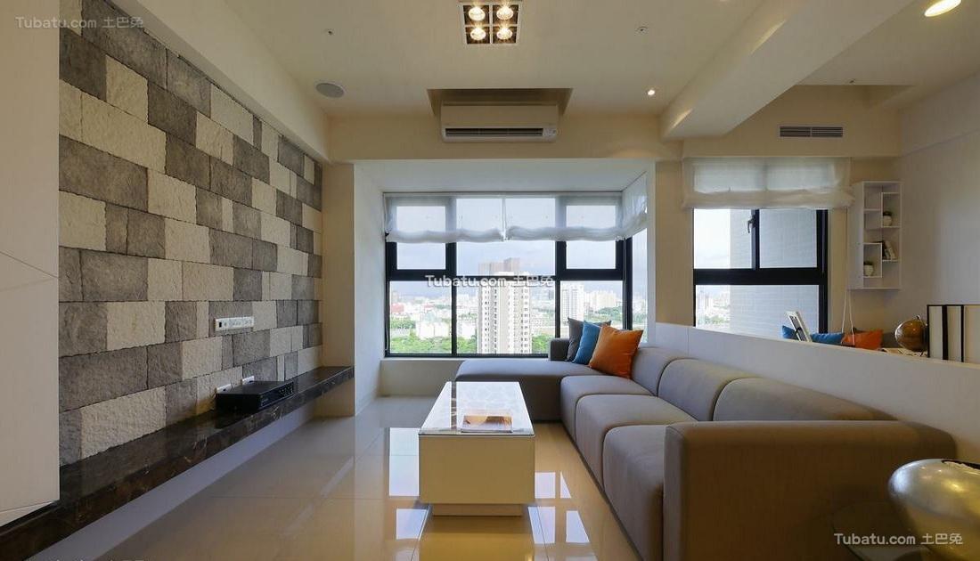 现代简洁设计三居室装修效果图