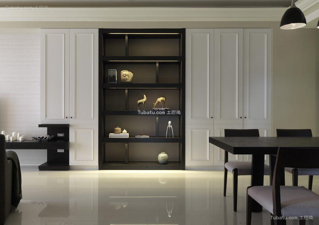 简约古典家装室内陈列柜效果图片