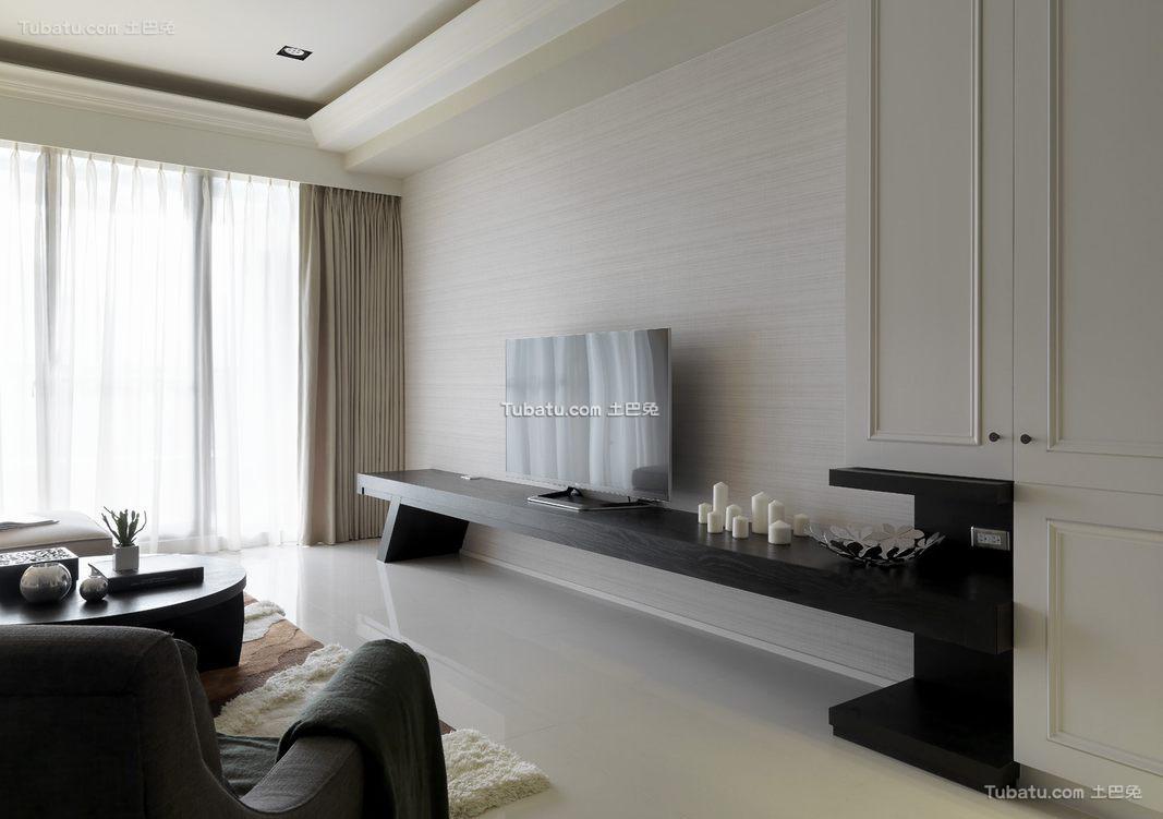 简约现代电视柜设计效果图片