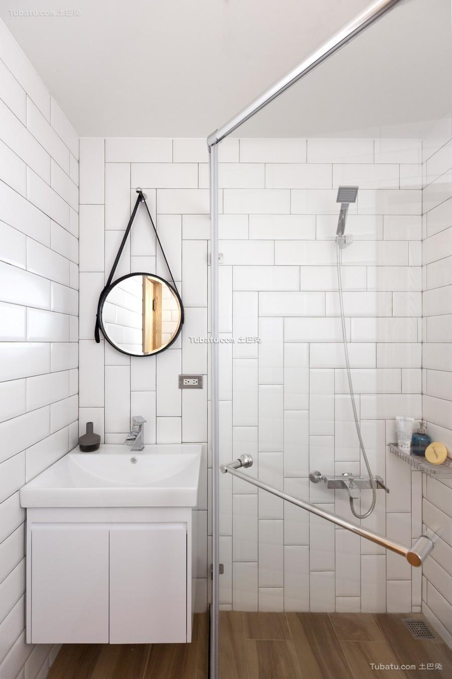 现代极简卫生间设计效果图片