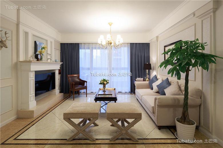 时尚简约美式客厅设计