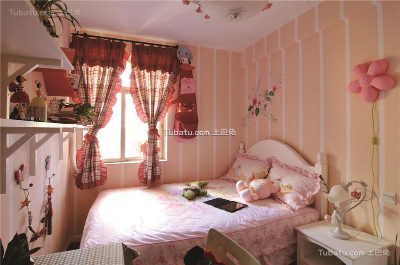 粉色欧式田园风格儿童房装潢