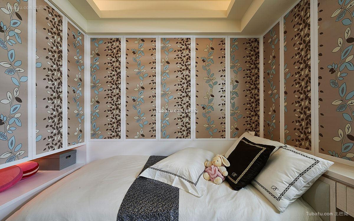 现代欧式卧室壁纸设计效果图