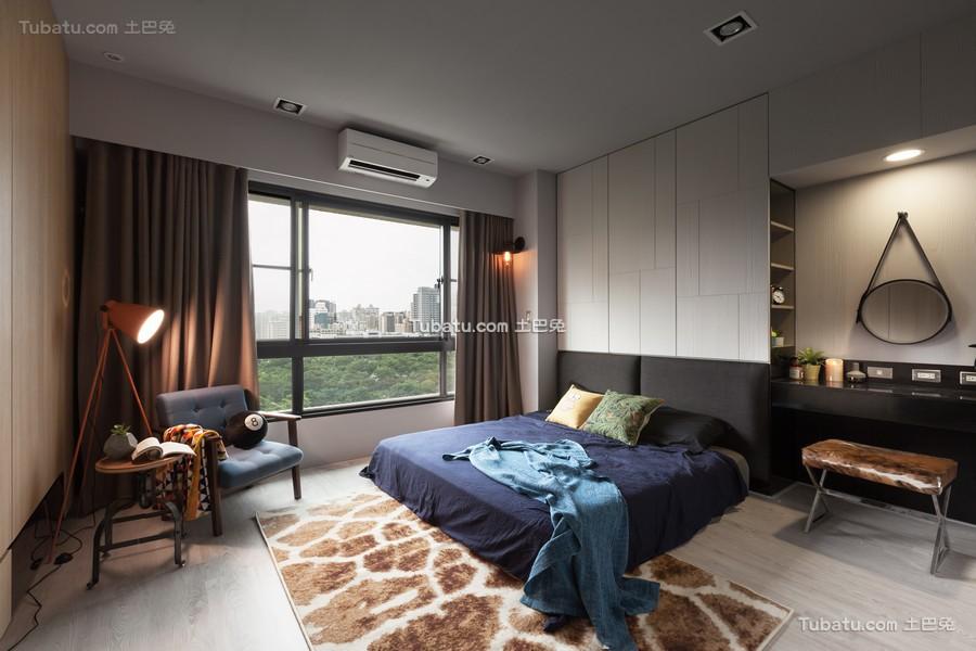 现代公寓卧室室内设计效果图片