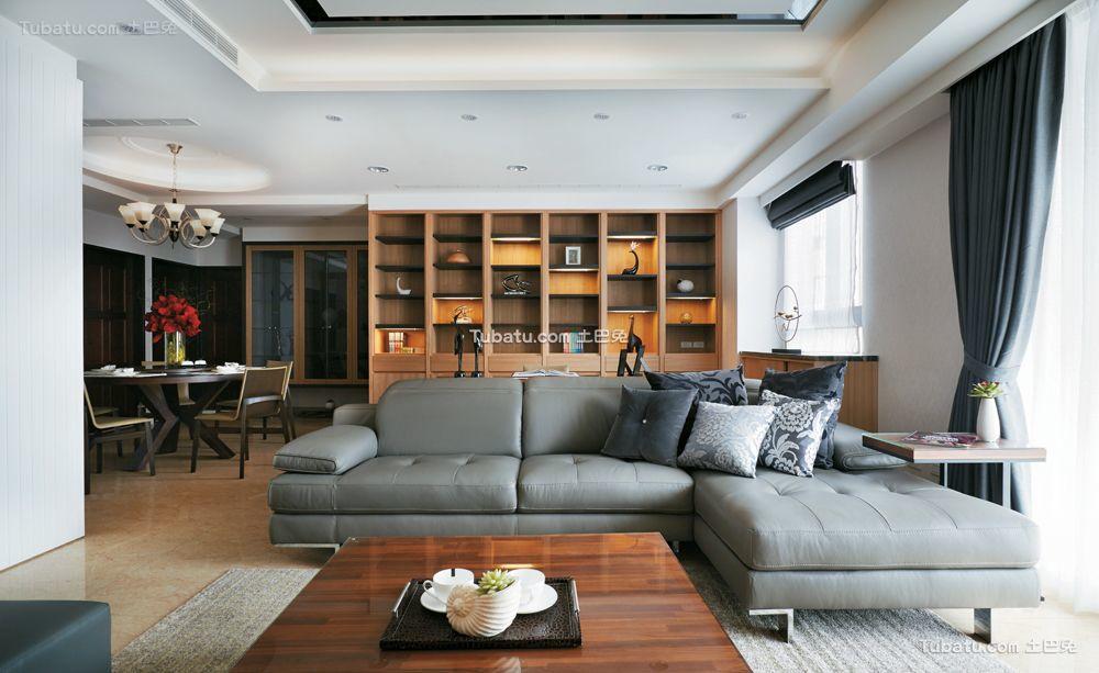 现代舒适客厅室内装饰效果图片