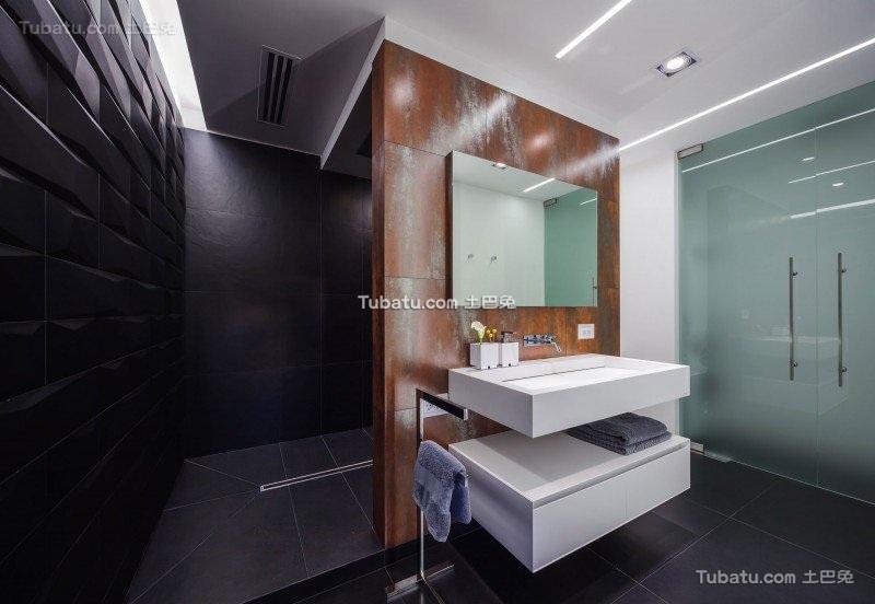 现代感前卫时尚的卫生间设计
