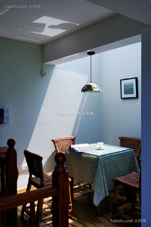 蓝色迷人休闲地中海阳台设计